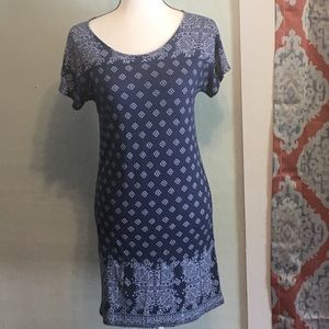 Lucky Brand blue/white tee dress